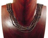 6 Strand Collar Necklace - Bronze