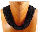 Classic 24 Strand Necklace - Black