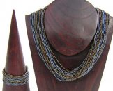 Classic 24 Strand Necklace - Pewter & Bronze