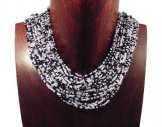 Classic 24 Strand Necklace - Salt & Pepper Tweed