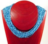 Classic 24 Strand Necklace - Sky Tweed