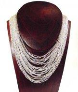 Classic 24 Strand Necklace - Silver Shine