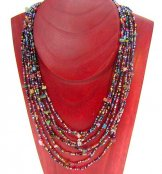 Bib with Stones Necklace - Carnival with Mixed Stones