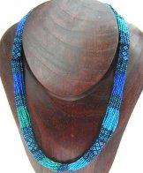 Tube Necklace - Ocean Blue