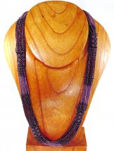 Tube Necklace - Amethyst