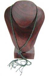Lariat Necklace - Green Metallic