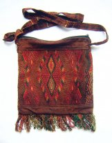 Huipil Bag -  Small Square Chichicastenango  Rust Diamonds ***SOLD***