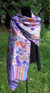 Silk Shawl - Violet