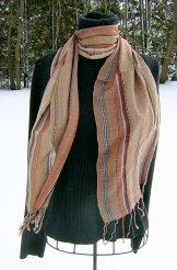 Skinny Scarf - Woven Stripe - Sand