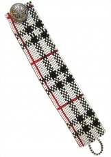 Slim White Plaid ArtCuff