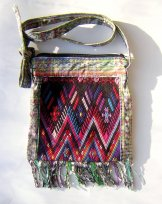 Huipil Bag -  Small Square Chichicastenango  Pattern 9 ***SOLD***