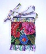 Huipil Bag - Small Square Chichicastenango Flowers 9