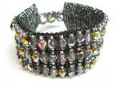 Crystal Cuff Bracelet - Steel