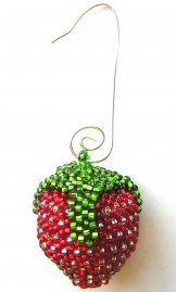 Christmas Ornament  or Keychain - Strawberry