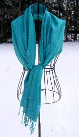 Scarf - Strie - Turquoise