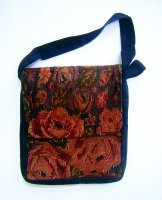 Huipil Tapestry Bag - Chichicastenango Roses 8 ***SOLD***
