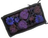 Black Velvet Eyeglass Case - Purple