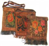 Assorted Small Square Huipil Bags from Chichicastenango - Rust