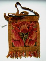 Huipil Bag - Med Square Chichicastenango Rust Flowers 11