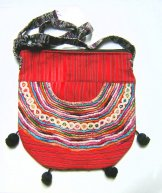 Huipil Bag - Medium Half Moon Joyabaj Red 5