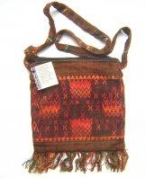 Huipil Bag -  Small Square Chichicastenango  Zigzag Rust ***SOLD***