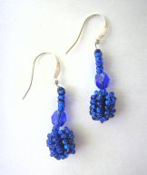 Droplet Earrings  - Electric Blue