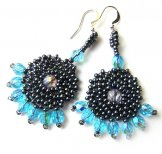 Byzantine Earrings - Pewter and Blue