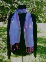 Skinny Scarf - Chevron - Blue Lilac