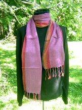 Skinny Scarf - Chevron - Lilac Rose