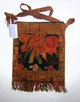 Huipil Bag -  Medium Square Chichicastenango Rust Flower 10  ***SOLD***