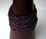 24 Strand Bracelet - Claret Shine