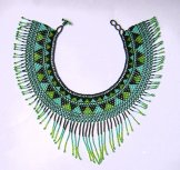 Cleo Collar - Green, Turquoise and Black