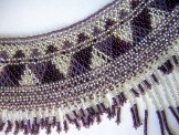 Cleo Collar - Silver, Lavender and Claret