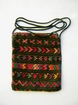 Huipil  -  Pocket Bag Cocoa Brown with Symbols 2 ***SOLD***