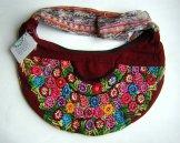 Huipil Crescent Bag - Patzun Flowers 8 ***SOLD***