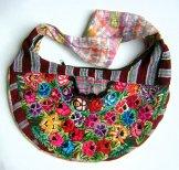 Huipil Crescent Bag - Patzun Flowers 9 ***SOLD***