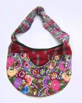 Huipil Crescent Bag - Patzun Flowers 1 ***SOLD***