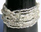 12 Strand Bracelet - Silver Shine
