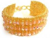 Crystal Cuff Bracelet - Blush