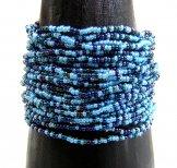 24 Strand Bracelet - Denim Tweed