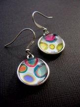 Polka Dot Earrings - Silver