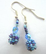 Droplet Earrings - Blueberry