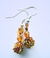 Droplet Earrings - Gold Tweed