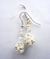 Droplet Earrings - Ice Tweed