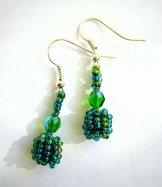 Droplet Earrings - Mallard Green