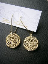 Wire Disc Earring - Gold