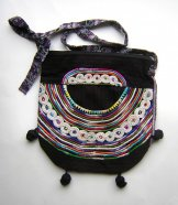 Huipil Bag - Medium Half Moon Joyabaj Black 3 ***SOLD****