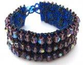 Crystal Cuff Bracelet - Iris