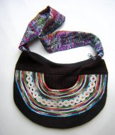 Huipil Crescent Bag - Joyabaj Black 1 ***SOLD***