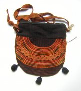 Huipil Bag - Small Half Moon Joyabaj Brown 10 ***SOLD***